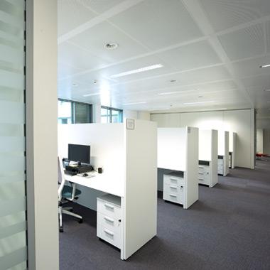 vue sur le call center open space design and build space planning