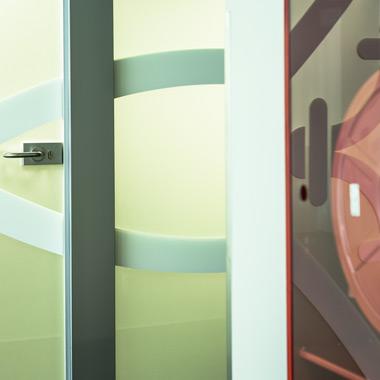 cloison aluminium et verre - aménagement de bureaux