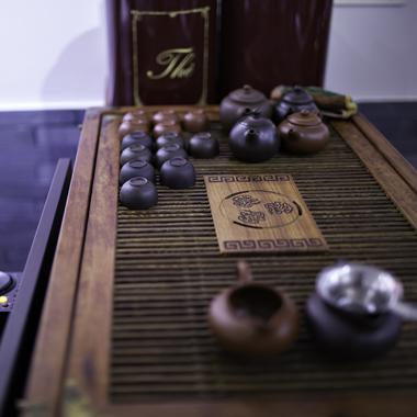 Cha Zen Food - vue sur le service à thé